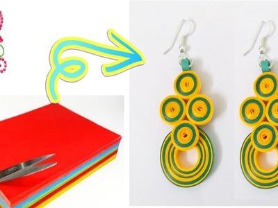 Earrings making || Paper earrings making at home || easy craft ideas || poppyalley
