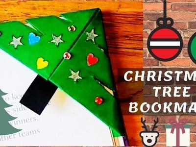 Easy Christmas Tree Corner Bookmark | Paper Crafts for Christmas Easy | Christmas Craft Making Ideas