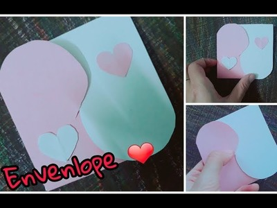 Easy Craft Idea ~ Lovely Paper Craft. Heart card handmade by Yen Nhi Channel