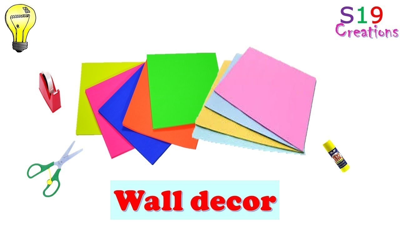 Easy paper craft ideas for wall decoration | diy room decor | paper crafts | diy arts and crafts