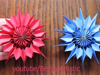 Easy way To Make Paper Star - Paper Craft - Handmade Star - Home Decor