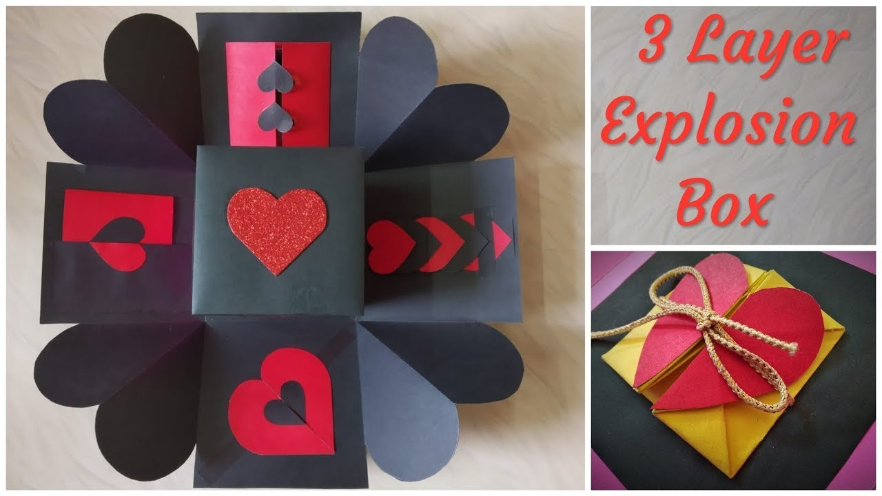 Explosion Box Gift Idea For Birthday Valentines Day Homemade