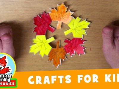 Fall Wreath Craft for Kids | Maple Leaf Learning Playhouse