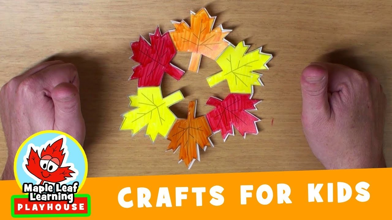 Fall Wreath Craft for Kids   Maple Leaf Learning Playhouse