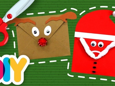 Fast-n-Easy | CHRISTMAS ENVELOPES Paper Craft | DIY Arts & Crafts for Kids