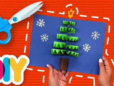 Fast-n-Easy | CHRISTMAS TREE Pop up CARD Craft | DIY Arts & Crafts for Kids
