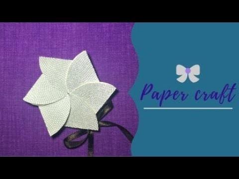 Flower invitation card | Flower envelope | Paper  craft | easy diy |