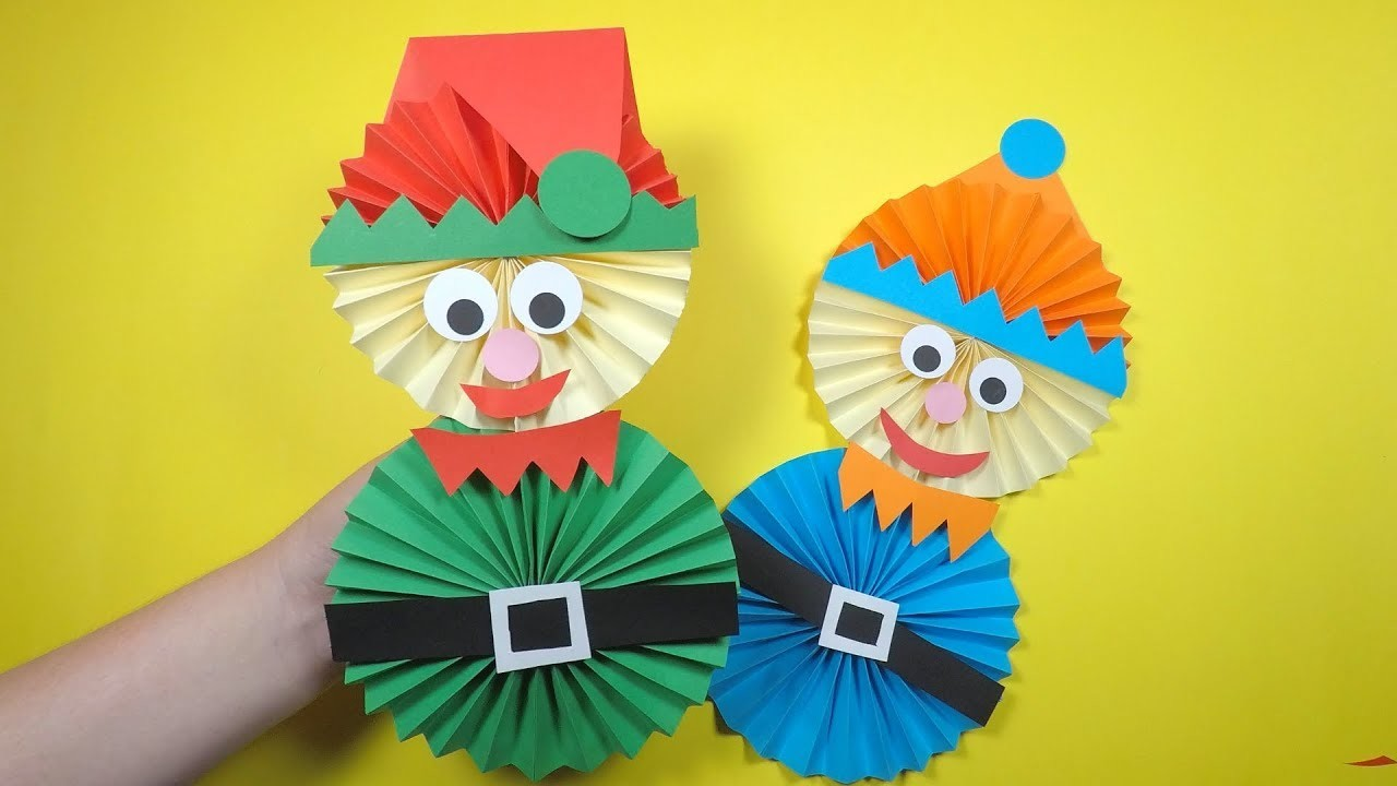 How to Make a Paper Elf | Christmas Craft for Kids