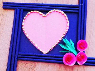 How to make a photo frame.DIY paper craft.wall hanging.home decoration