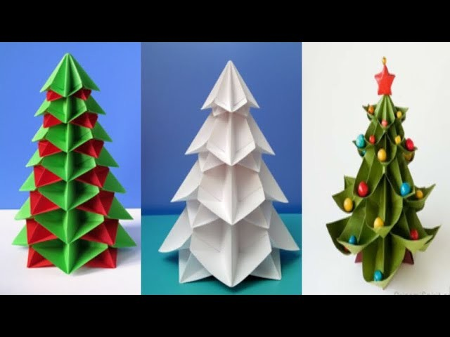 How to make amazing Christmas ???? tree from paper. handmade craft. how to make Christmas tree