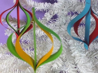 How to Make an Easy Christmas Paper Ornament | Christmas Craft