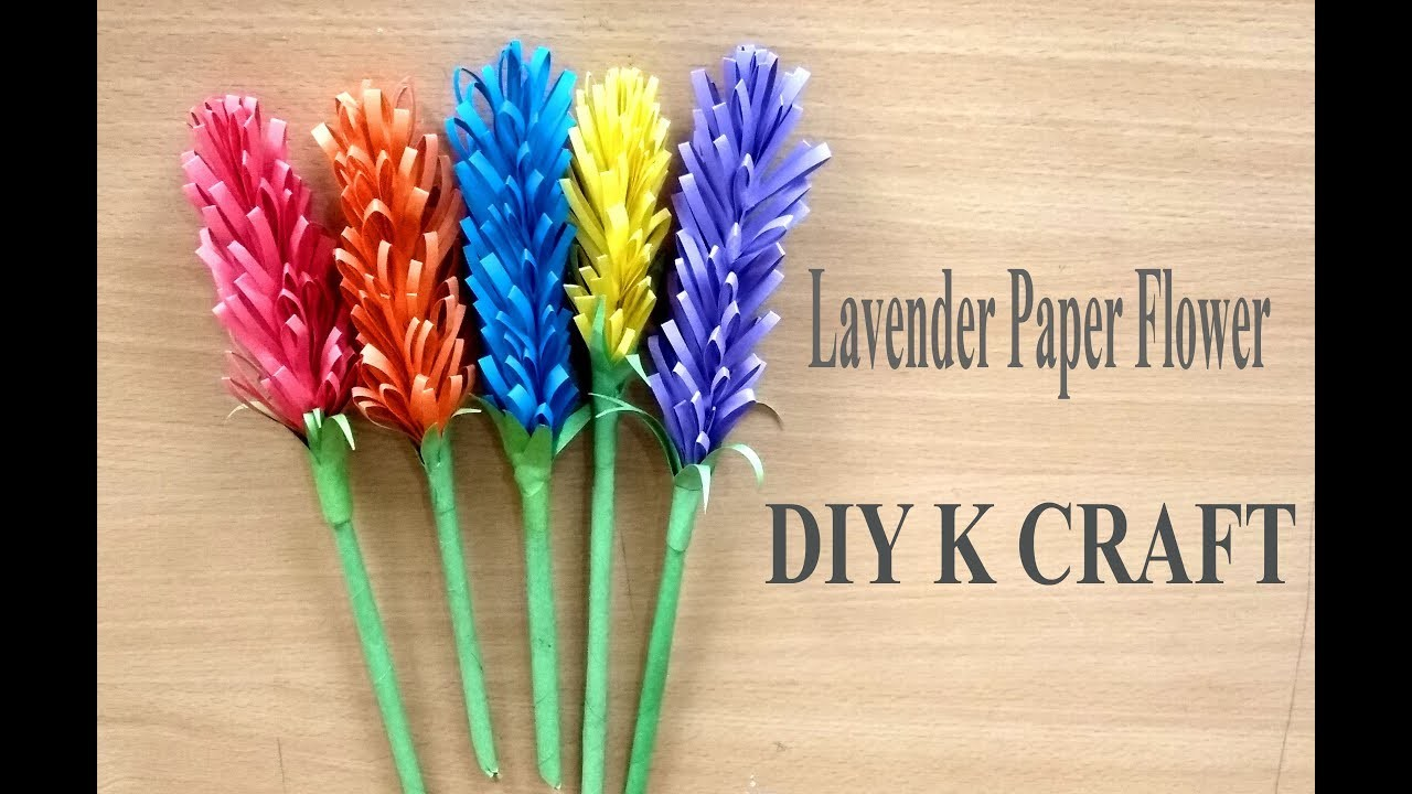 How to Make Beautiful Lavender Paper Flower| DIY K Craft