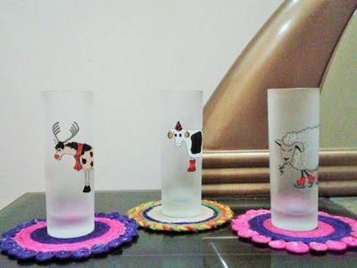 How to make CD Coasters - DIY jute coaster craft