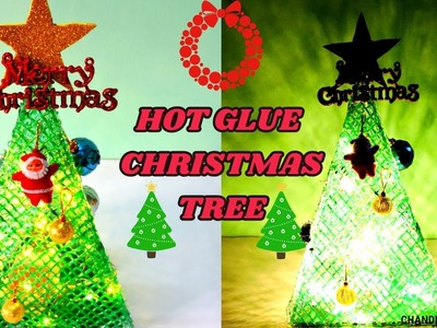 How To Make Christmas Tree From Hot Glue || Christmas Craft Ideas At Home || Christmas 2018 ||
