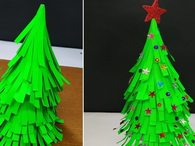 How to Make Christmas Tree With Paper | DIY Xmas Paper Craft Decoration