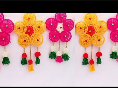 How To Make Door Hangings.Toran At Home.Bangles Craft ideas