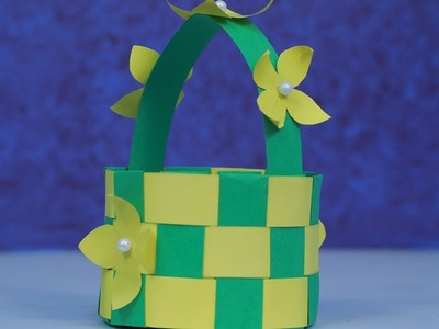 How to Make Paper Basket - Paper Craft-Home Decor