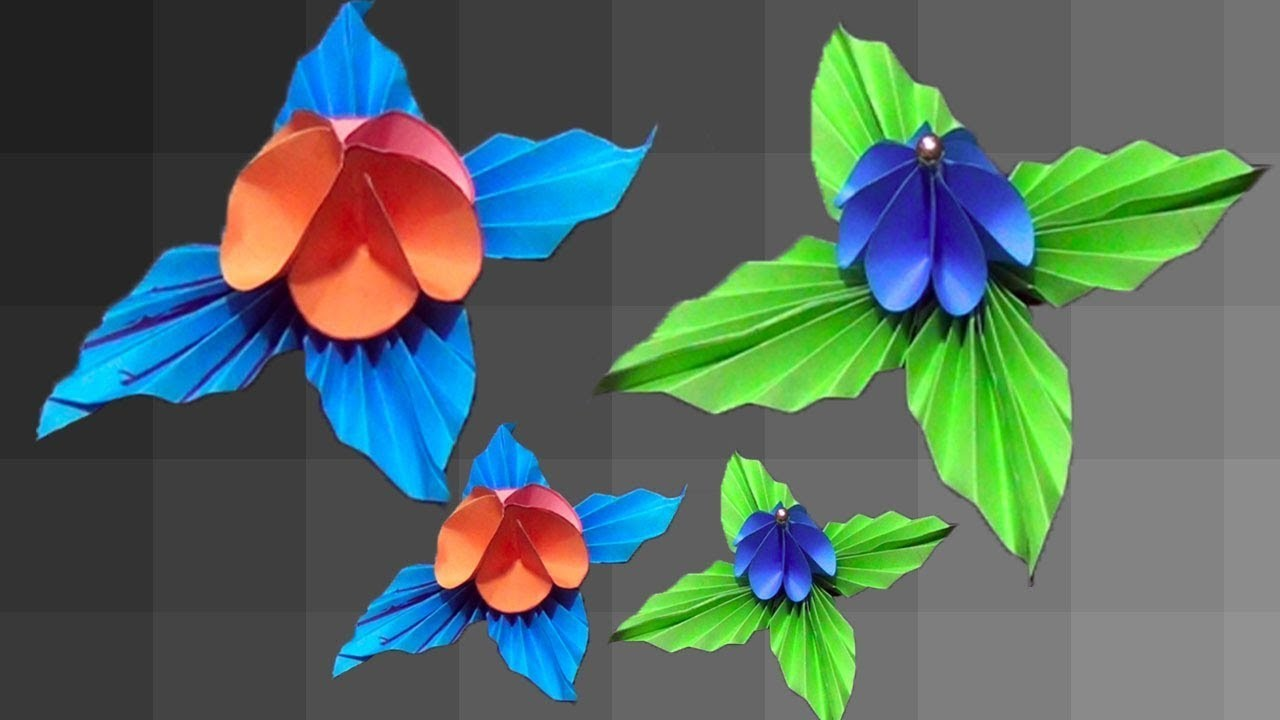 How To Make Paper Flowers At Home Hand Made Craft Diy Paper