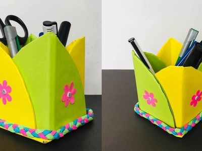 How to Make Pencil Box with Paper | Pencil Holder Ideas | Paper Craft Ideas