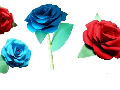 How To Make Rose Paper Flower Origami - DIY Paper Craft