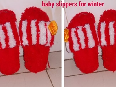 How to make slippers at home ||slippers with wool ||diy woolen craft||dustu pakhe