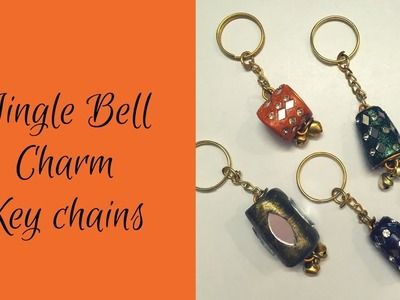 Jingle bell charm key chains | Handmade | Easy Diy | 2-minutes craft