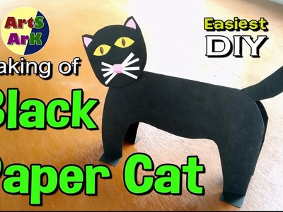 Making of a Black Paper Cat | Easiest paper craft for kids | Toy Making