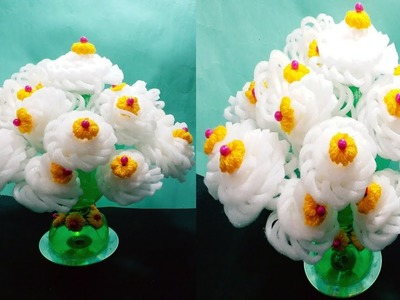 NEW DESIGN NEW LOOK FOAM GULDASTA.DIY MAKE BEST FOAM CRAFT GULDASTA WITH WASTE BOTTLE.