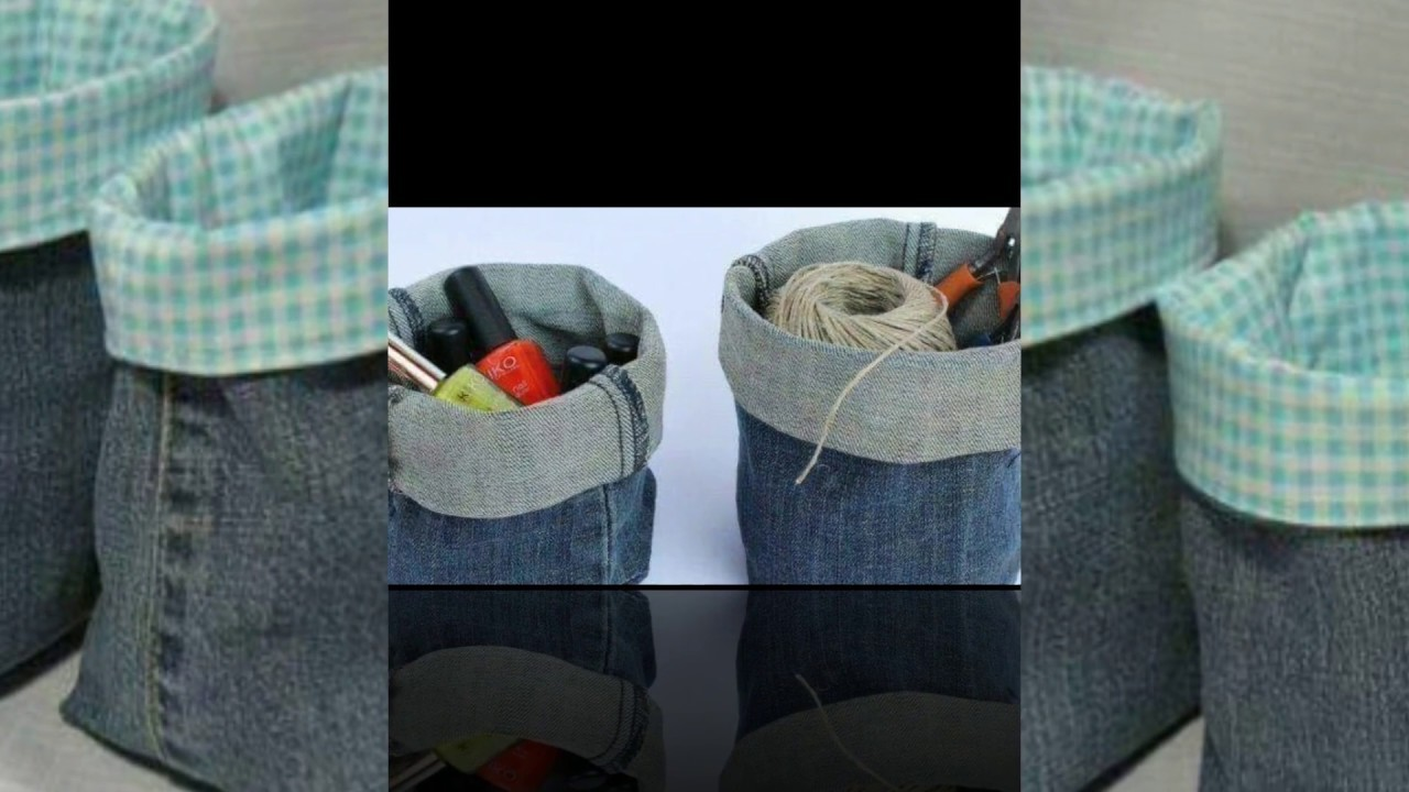 Old Jeans Diy Simple Hacks Recycled Denim Craft Ideas