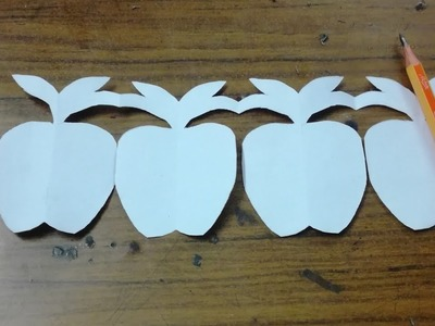 Paper craft. Make Apple by paper cut.