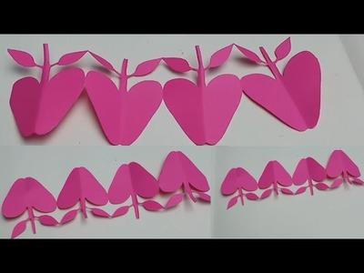 Paper cutting craft ideas,paper cutting design,paper chain,paper art and crafts