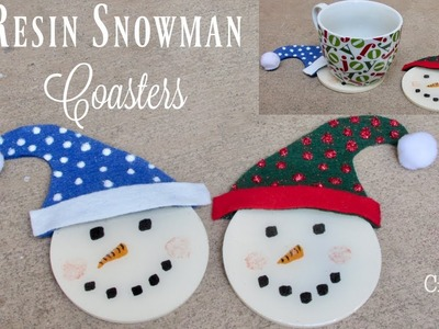 Resin Snowman Coasters DIY | Resin Coasters | Another Coaster Friday | Craft Klatch