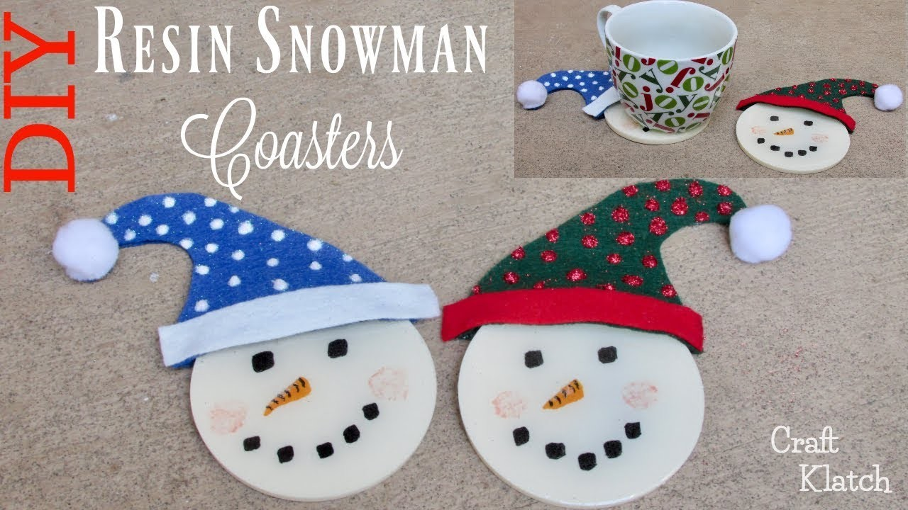 Resin Snowman Coasters DIY, Resin Coasters, Another Coaster Friday