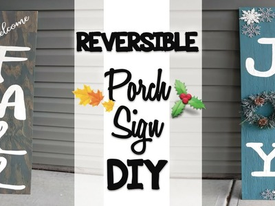 Reversible Porch Sign DIY   Craft with me   Fall 2018