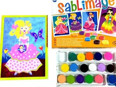 Sablimage Create Princess Pictures Coloured Sands Art Craft Creative DIY