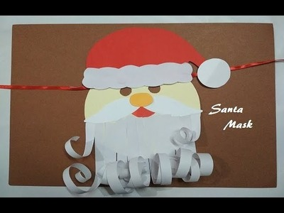 Santa Claus Mask | Paper Craft | Handmade Santa Claus | Easy Mask for Kids