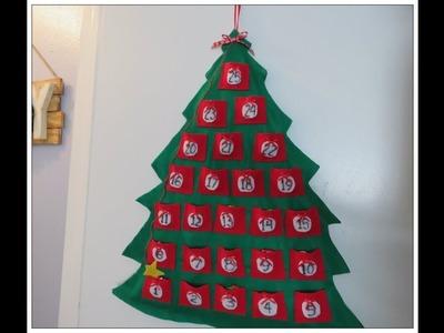 Tricia's Christmas: Kids Craft #1 Christmas Tree Advent Calendar
