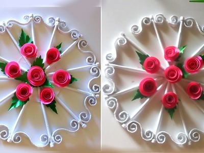 Wall new design paper craft january frist | new year wall flowers crafts 2019 | paper stick design