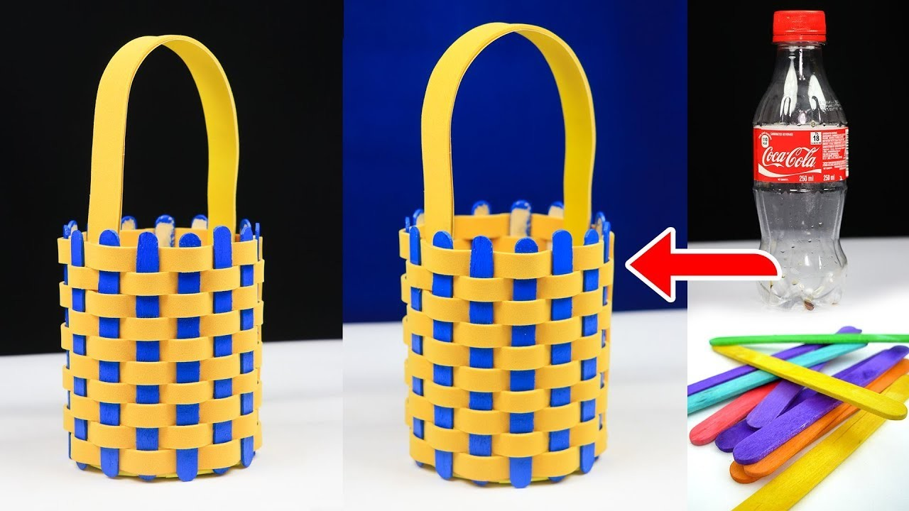 Waste Material Craft Ideas How To Make An Easter Basket With