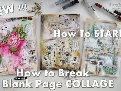 2019 NEW! How to Break A Blank Page Collage ♡ Maremi's Small Art ♡
