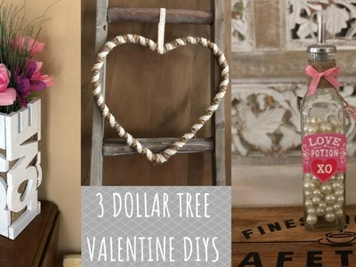 3 Dollar Tree Valentine Farmhouse DIYs