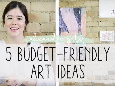 5 BUDGET ART IDEAS + HOW TO HANG ART ON BRICK WALLS