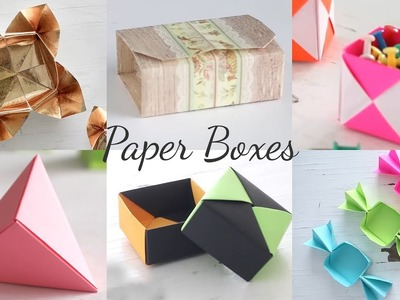6 Easy DIY Paper Boxes | Paper Craft Ideas | Compilation