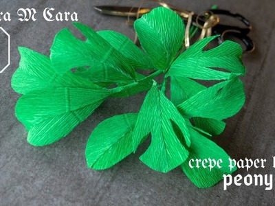 703B DIY  Peony Paper Leaves. Easy Pro Paper Crafts Tutorial