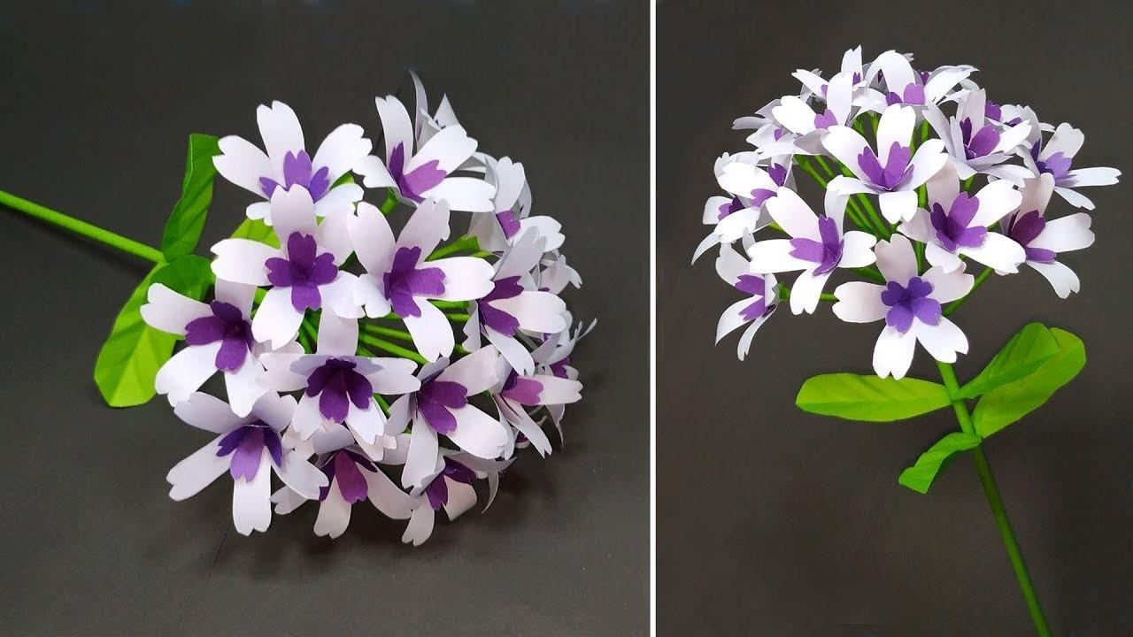 Beautiful Paper Craft Ideas! DIY Handcraft Stick Flower Making Tutorial | Jarine's Crafty Creation