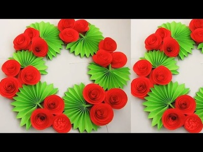Christmas decorations. DIY. Simple Home Decor. Wall, Door Decoration. Hanging Flower. Paper Craft n9