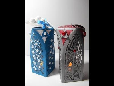 Christmas Lantern or Gift Box - Tonic Studios Dimensions