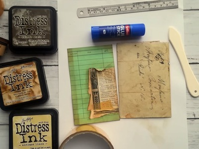 Craft With Me: How I Age And Distress My Papers