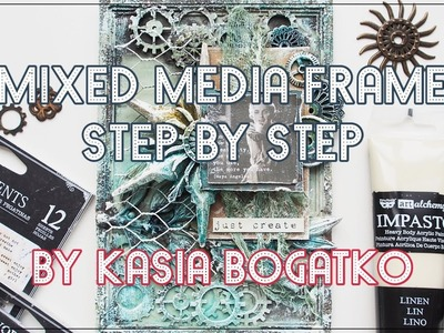Creativity - mixed media frame by Kasia Bogatko