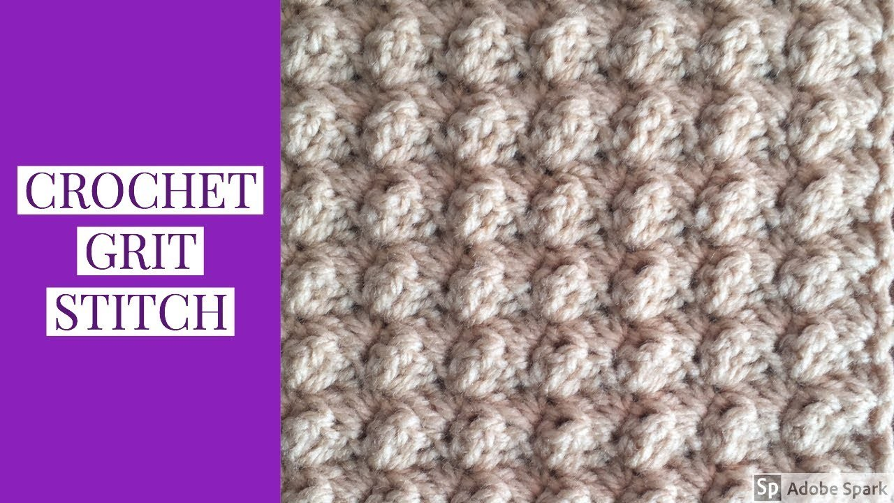 Crochet GRIT Stitch Variation | Beginner Level~One Row Repeat~Crochet Scarf